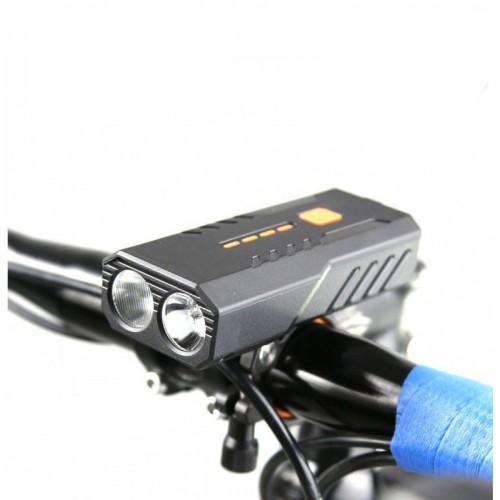 Фара передняя Yajia LY-22, аккумулятор, micro USB, черный (BC-FL1651)
