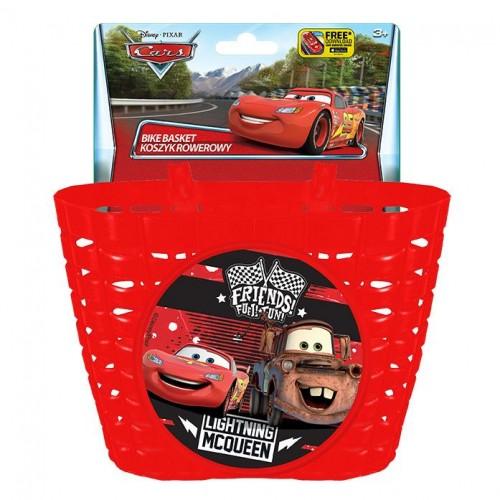 """Корзина передняя Mendelli 12"""" Cars пластик, красный (KOS049)"""