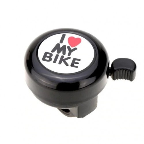 Звонок DN BL-005 I love my bike, черный (BL-005-black)