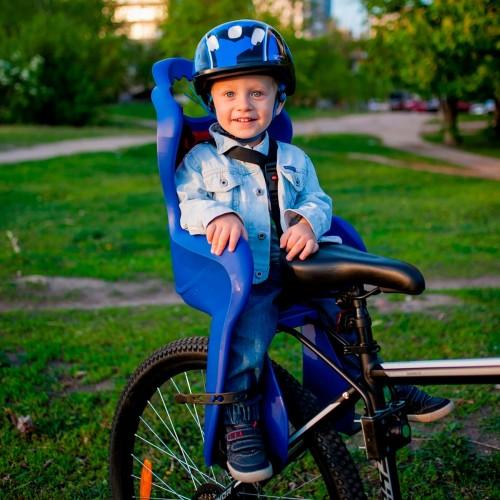 Велокресло детское Elibas T HTP design на подседельную трубу, синий (CHR-004-1)