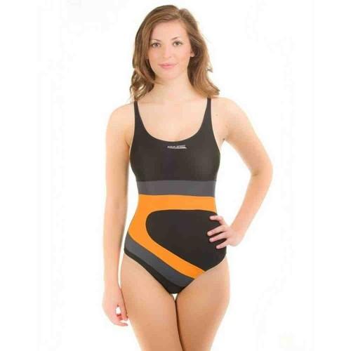 Купальный костюм Aqua-Speed Monika черный /серый/оранжевый  (43039)