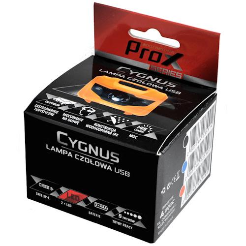 Налобный фонарик ProX Cygnus 3Led, 3xAAA оранжевый (a-O-b-p-0352)