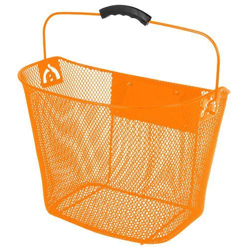 Корзина M-Wave на руль, с креплением и ручкой, оранжевый (A-PZ-0651)