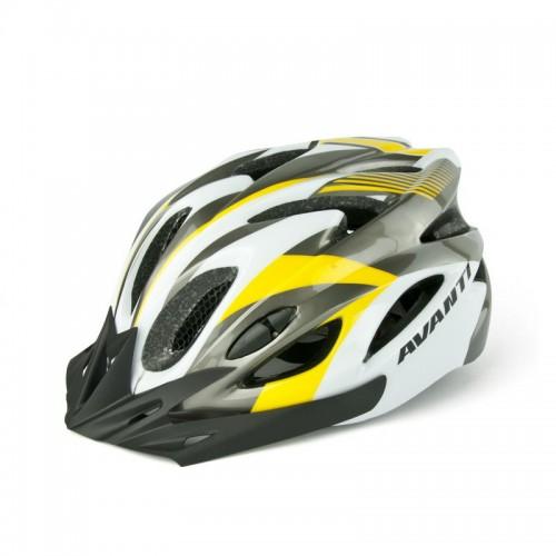 Шлем велосипедный Avanti AVH-001 серый / желтый (AVH-001-grey)