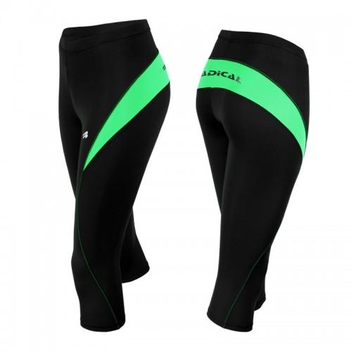 Капри Radical FLEXY 3/4 черно-зеленый (Flexy-3-4-green)