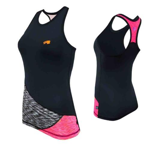 Майка Radical Reaction Tank Top черный /серый/розовый (Reaction-tank-top-pink)