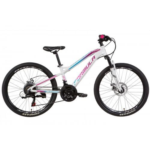 """Велосипед AL 24 """"FORMULA BLACKWOOD 1.0 DD рама 12.5"""" белый / фиолетовый (OPS-FR-24-176)"""