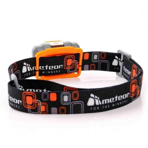 Налобный фонарик 3w оранжевый/черный  (23779)