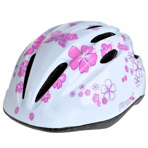 Шлем велосипедный ProX Spidy детский, белый с розовым (A-KO-0145)