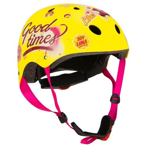 Шлем велосипедный Dysney Soy Luna желтый (KAS907)
