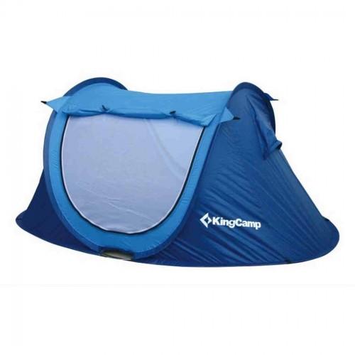 Палатка King Camp Family 2+1 KT3071 синий (80016)