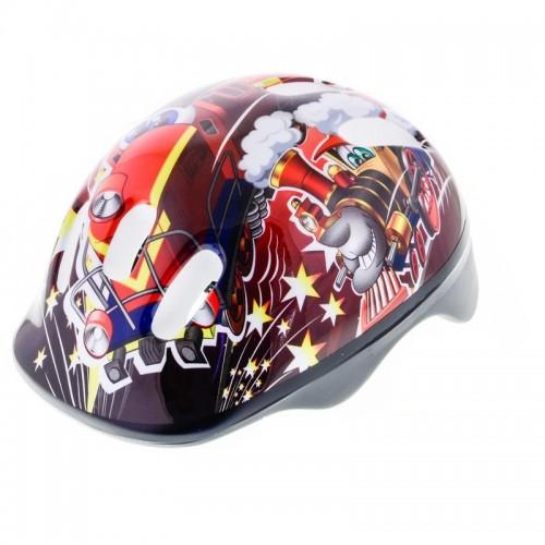 Шлем велосипедный B-Skin Trains красный (KAS015)