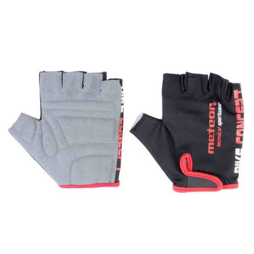 Велоперчатки Meteor BIKE Черный /красный (23321-23324)