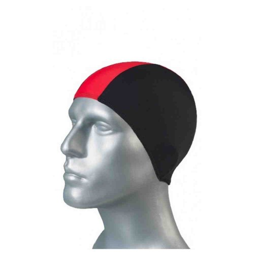 Шапка для плавания для бассейна Черный /красный 80% поліамід 20% эластан shepa-black-red Shepa