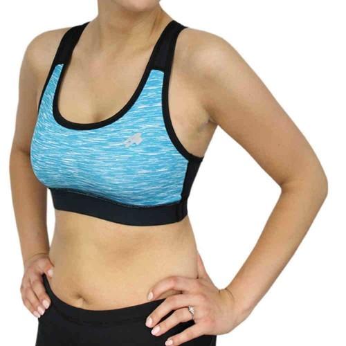 Топ Radical черный /голубой (sports-bra-blue)