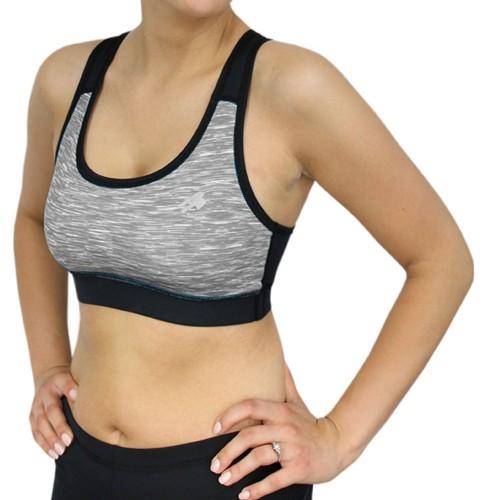 Топ Radical Sports Bra черный /серый (sports-bra-grey)