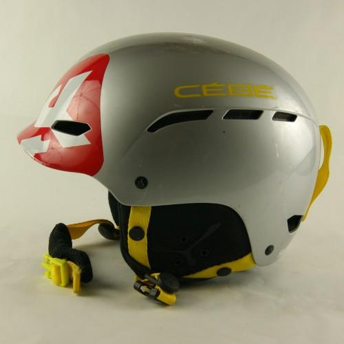 Горнолыжный шлем Cebe серый глянцевый желтые буквы (H-086)