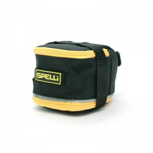 Сумка подседельная Spelli SSB-5041L черный / желтый (SSB-5041L-yellow)