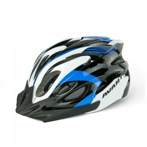 Шлем велосипедный Avanti AVH-001 черный /белый/синий (avh-001-blue)