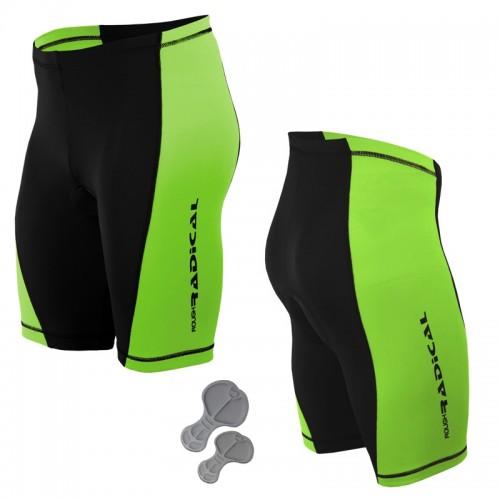 Велошорты, велотрусы с памперсом Radical Racer Pro черный /зеленый (racer-pro-green)