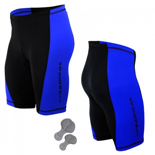 Велошорты, велотрусы с памперсом Radical Racer Pro черный /синий (racer-pro-blue)