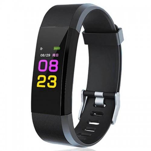 Фитнес браслет Smart Band ID115 черный (ID115-black)