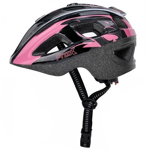Шлем велосипедный ProX Armor, черный с розовым (A-KO-0139)