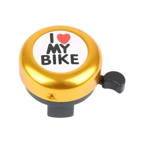 Звонок DN BL-005 I love my bike, золотой (BL-005-gold)