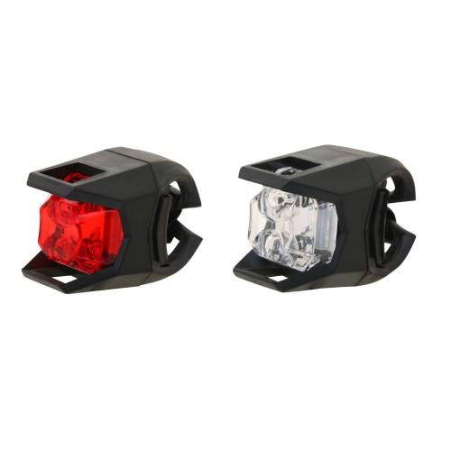 Велосипедная мигалка Kands белый / красный, светло LED, 2шт черный (JY-3005)