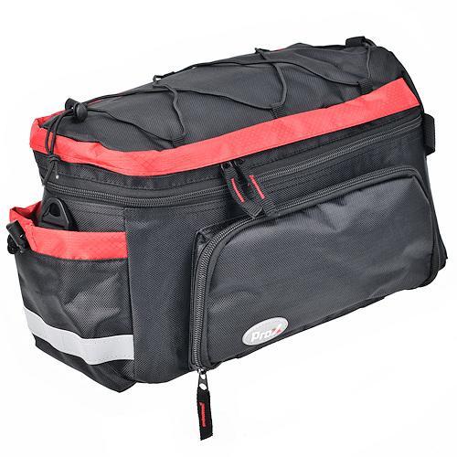 Велосумка на багажник ProX Dakota 035 15 л, черно / красный (A-SP-0235)