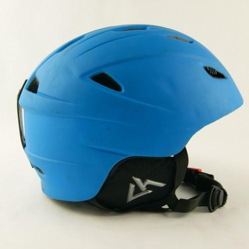 Горнолыжный шлем Lhoise серо-зеленый матовый (H-062)