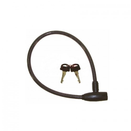 Замок велосипедный под ключ 60см черный (A-Z-0014-black)