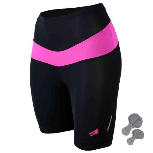 Велошорты, велотрусыс памперсом Radical Shine черный /розовый (Shine-pink)