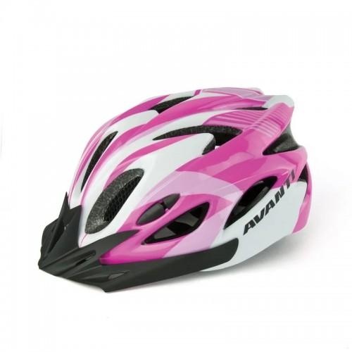 Шлем велосипедный Avanti AVH-001 черный /белый/розовый (AVH-001-pink)