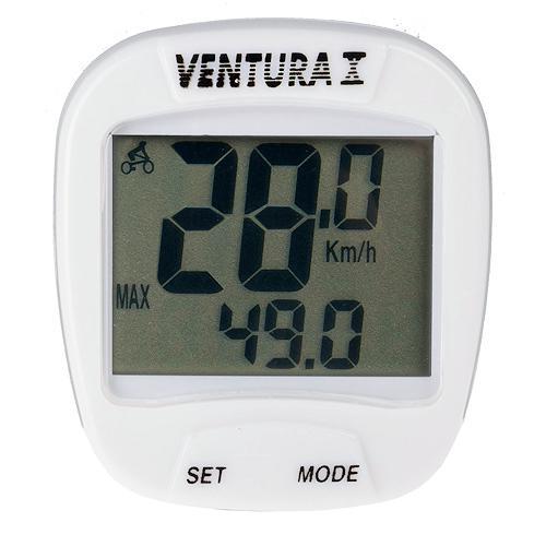 Велокомпьютер Ventura 10F Белый (A-L-0066)