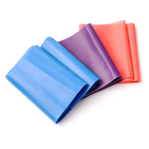 Резина для фитнеса Meteor 3шт синий/фиолетовый/красный (31150)