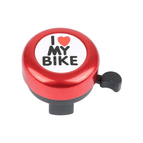 Звонок DN BL-005 I love my bike, красный (BL-005-red)