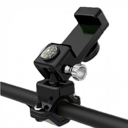 Велосипедный держатель для смартфона Q003 + 2Led черный (q003)