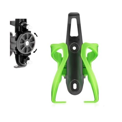 Крепление для фляги Ibera Adjust IB-BC17 с регулировкой, зеленый (KOB016)