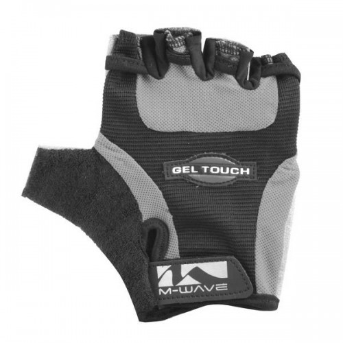 Велоперчатки M-Wave Gel, черный / серый (m-719935-grey)