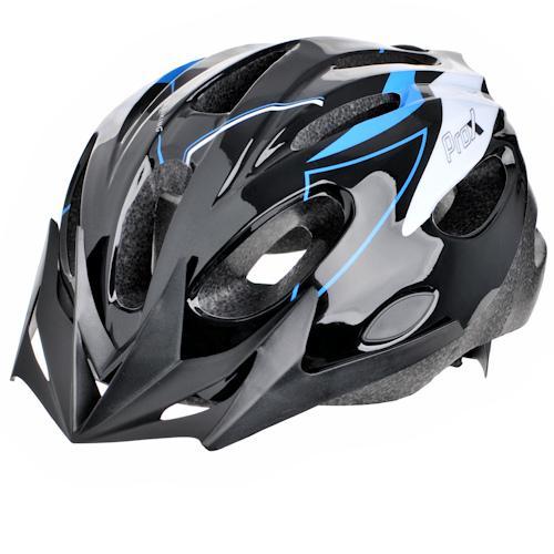 Шлем велосипедный ProX Thunder черный / синий (A-KO-0133)