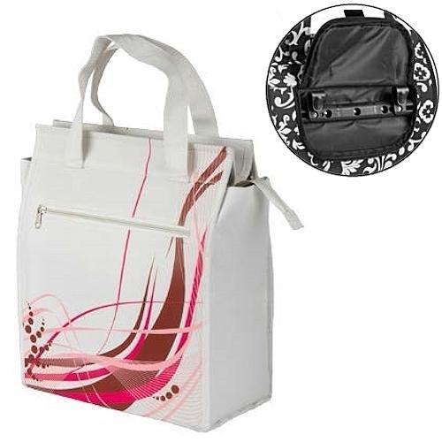 Сумка на багажник M-Wave Fancy, белый с розовым (A-SP-0069)