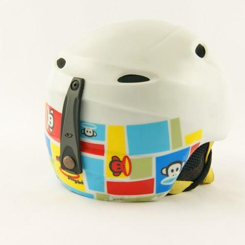 Горнолыжный шлем Giro Slingshot белый с обезьянками матовый (H-032)