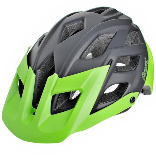 Шлем велосипедный ProX Thor черный с зеленым (A-KO-0109)