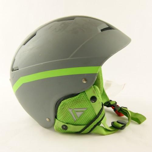 Горнолыжный шлем Lhoise серо-зеленый матовый (H-048)