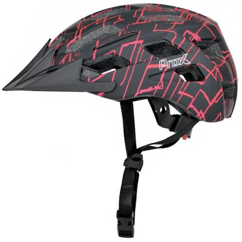 Шлем велосипедный ProX Storm черный с красным (A-KO-0127)