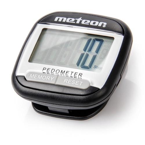Шагомер Meteor черный   (38067)
